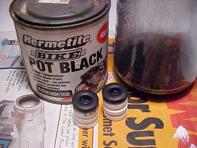 Matt black paint, not water based!